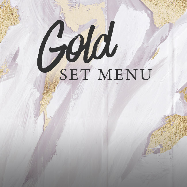 Gold set menu at The Black Horse