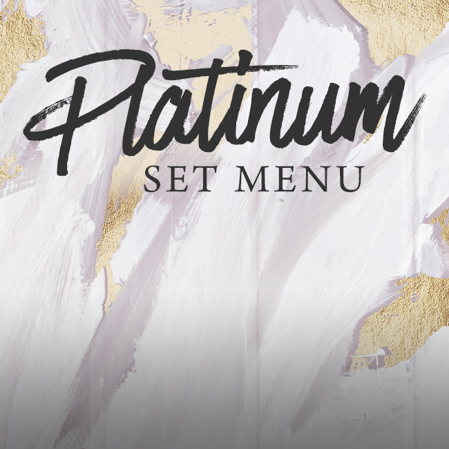Platinum set menu at The Black Horse