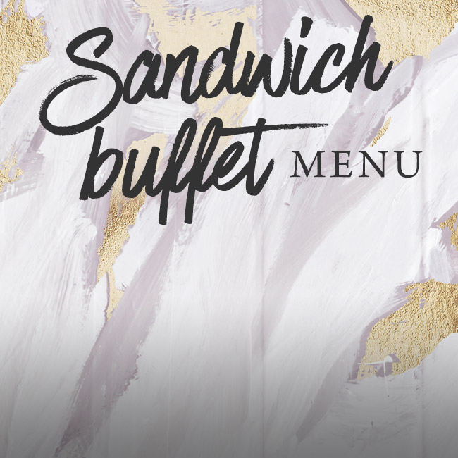Sandwich buffet menu at The Black Horse