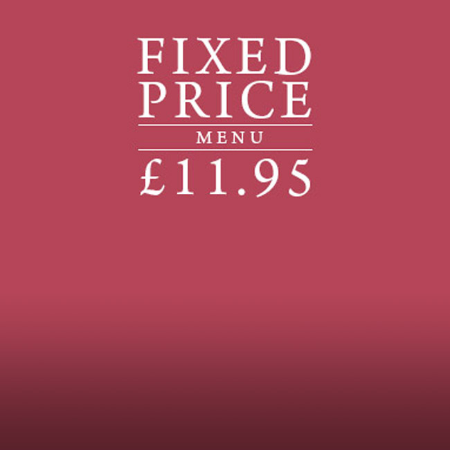 Fixed Price Menu at The Black Horse